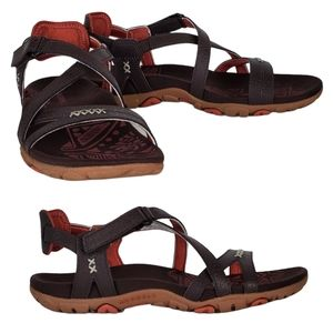 New Merrell sandspur rose leather stappy sandals